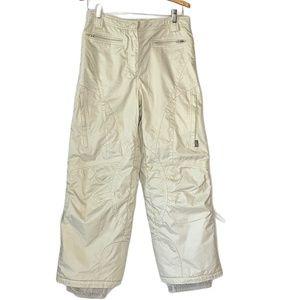 OBERMEYER Ski Snow Pants Cream Beige EWS Junior 16